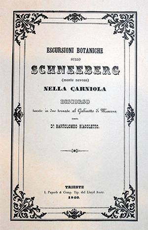 ESCURSIONI BOTANICHE SULLO SCHNEEBER